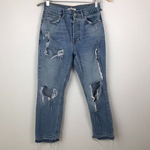 3/$20 Forever 21 High Waisted Ripped Mom Jeans